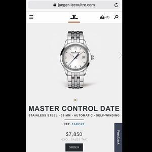Authentic Jaeger-LeCoultre Master Control Date